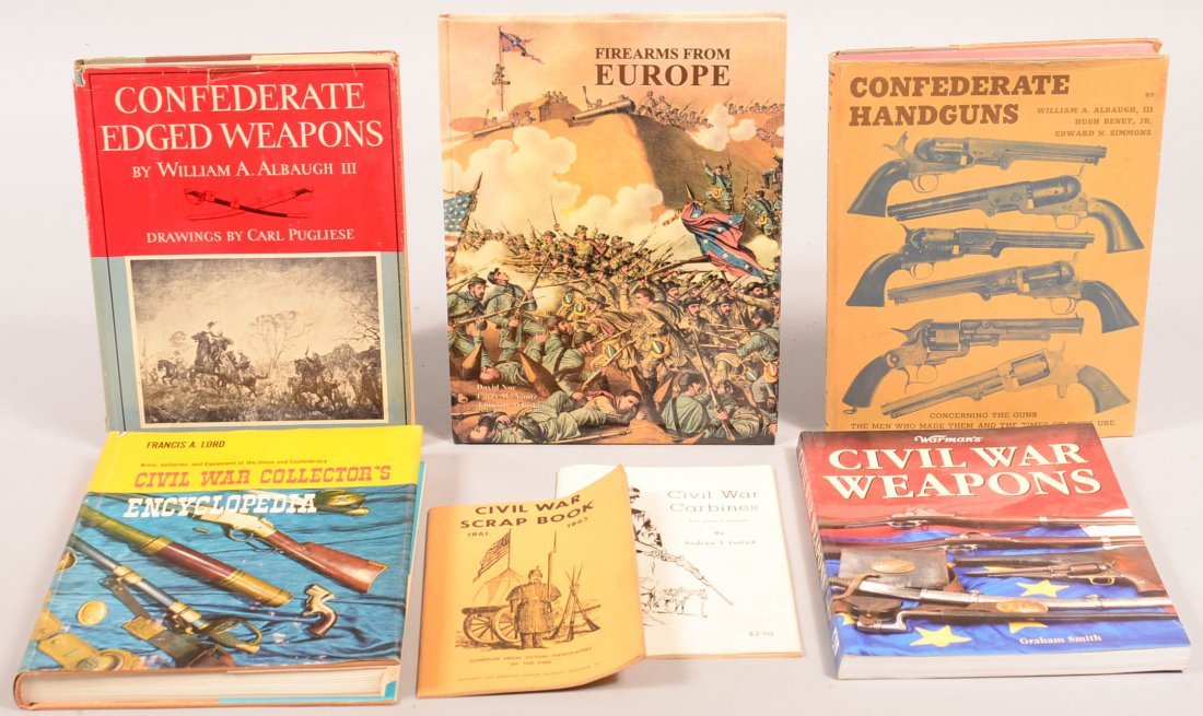 """Book lot of (7) Civil War including """"Firearms from"""