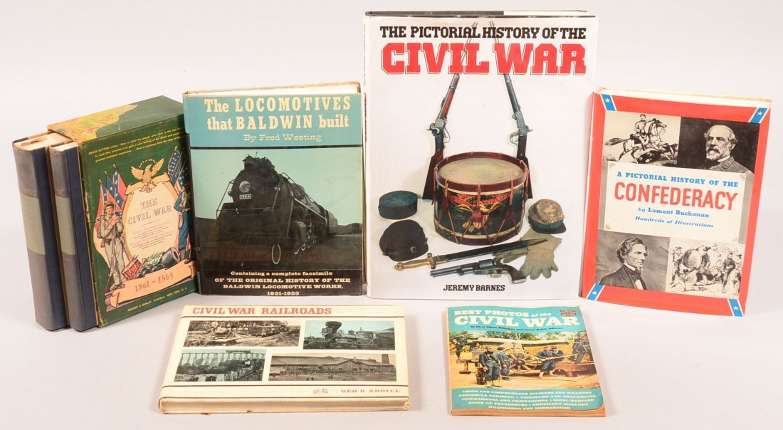 """Book lot of (7) Civil War including """"The Civil War"""" by"""