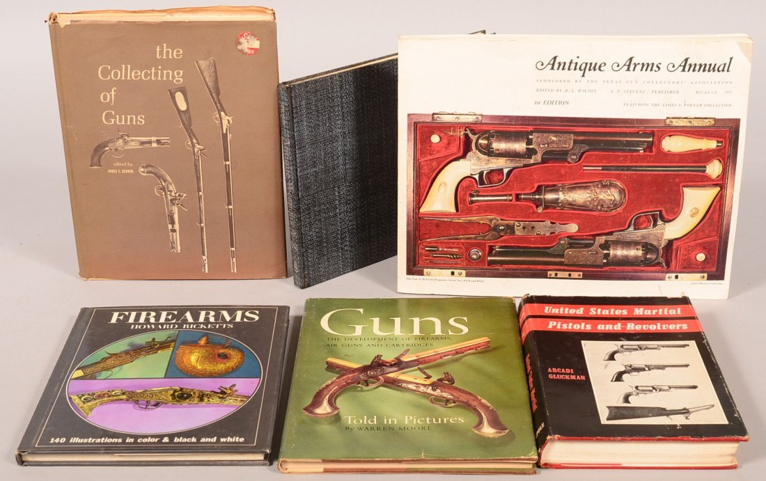 Book lot of (6) antique firearms subjects including