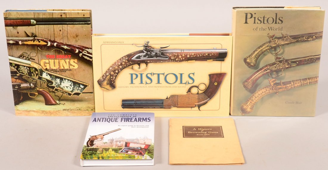 """Book lot of (5) including """"Pistols of the World"""" by"""