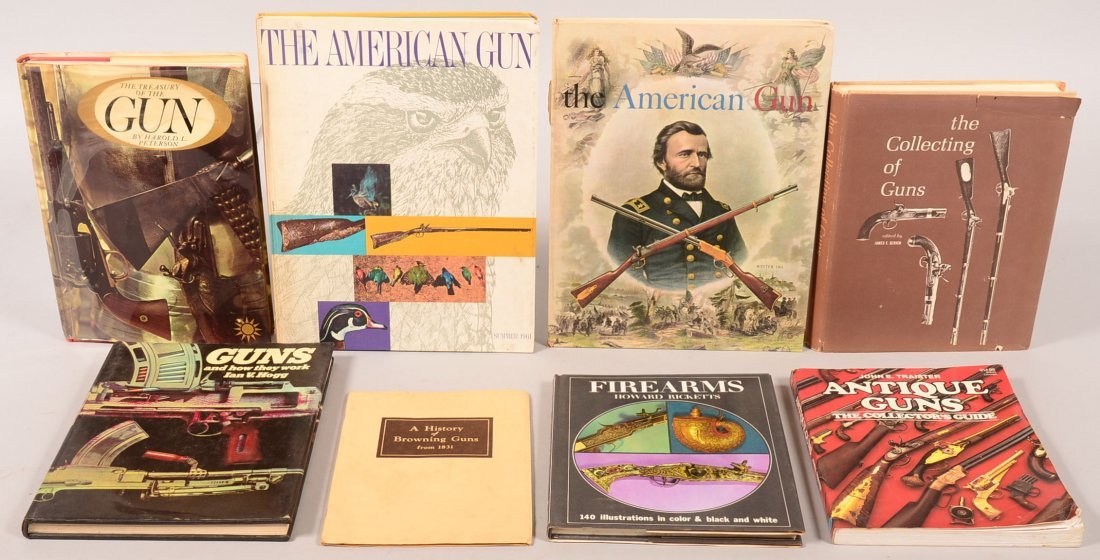 """. Book lot of (8) including """"The Collecting of Guns"""";"""