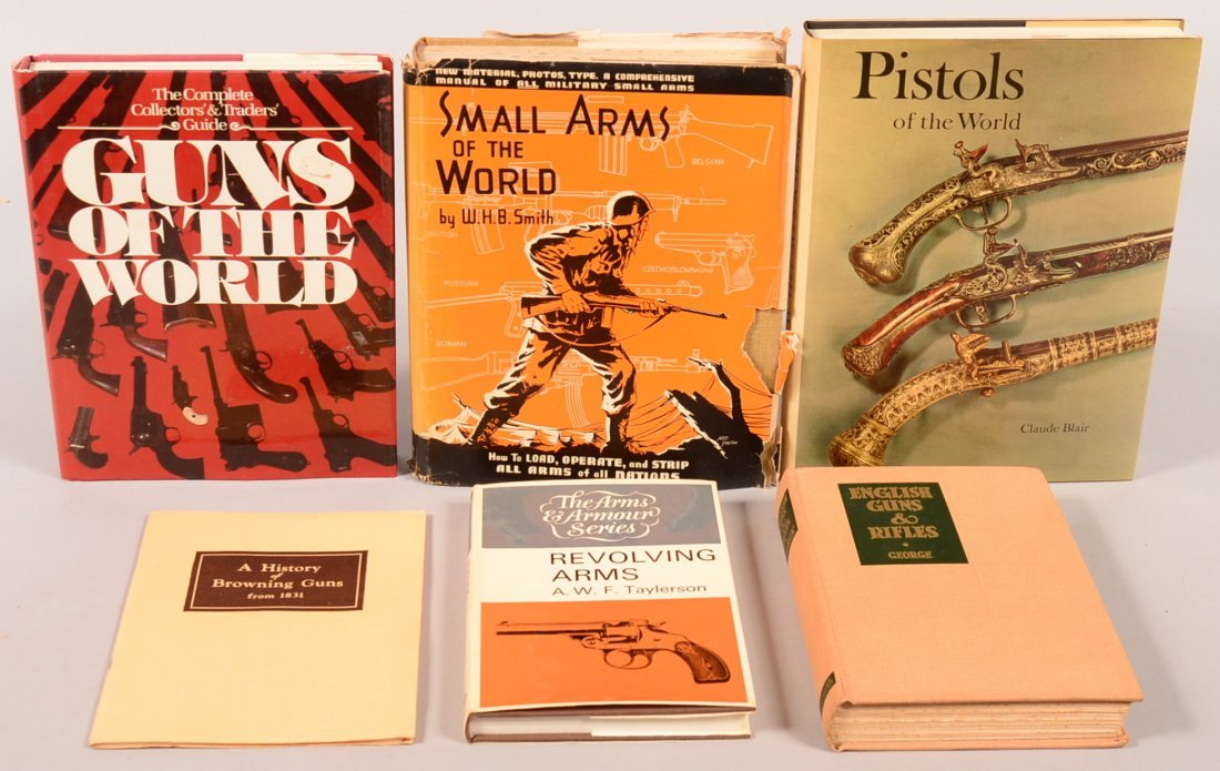 """Book lot of (6) including """"Revolving Arms"""" by Taylorson;"""