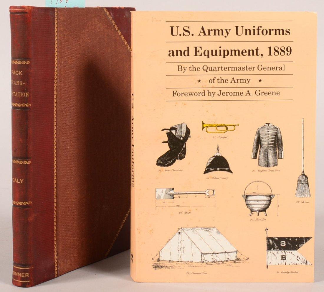 "Book lot of (2): ""Pack Transportation"" 1908 War"