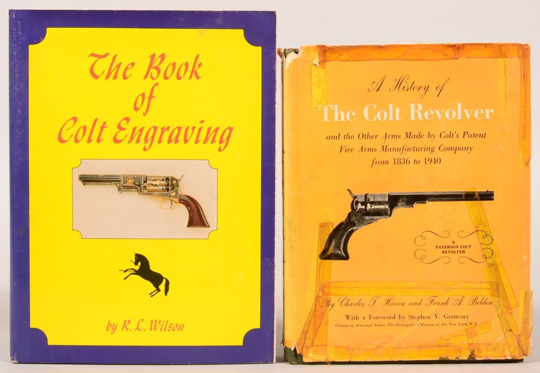 """. Book lot of (2) Colt: """"The Book of Colt Engraving"""""""