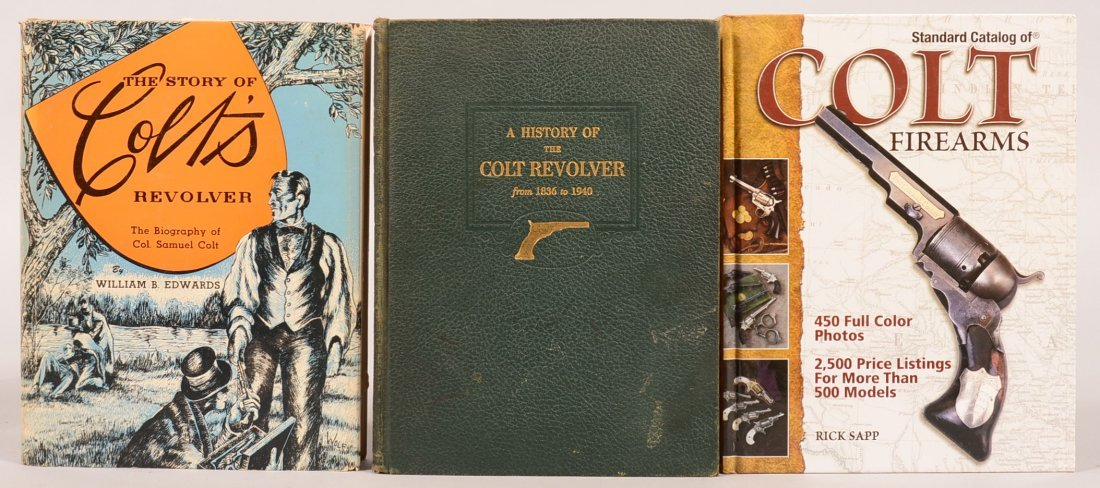 """. Book lot of (3) Colt: """"The Story of Colts Revolver"""""""