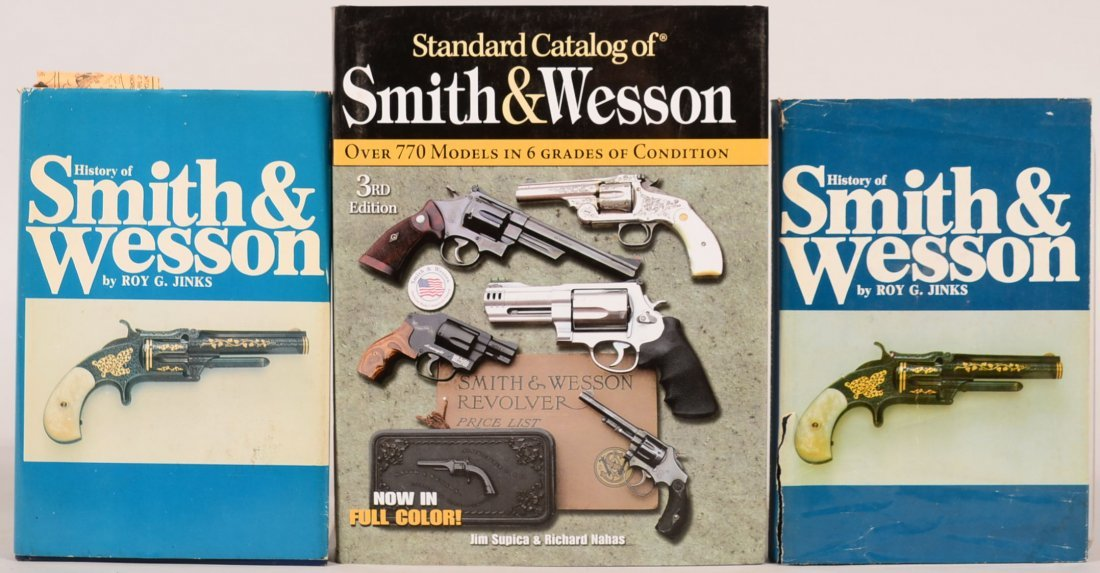"""Book lot of (3) S & W: """"Standard Catalog of Smith &"""