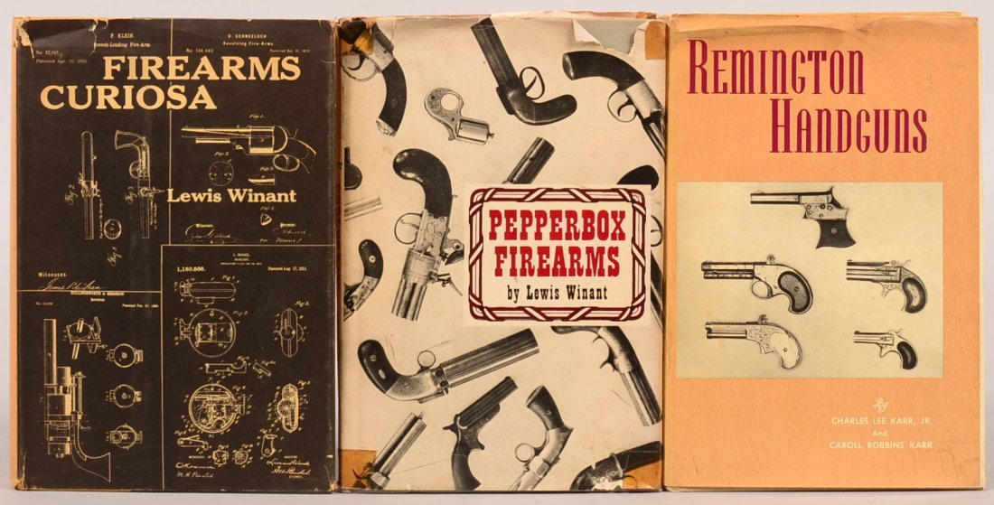 """Book lot of (3):  """"Firearms Curiosa"""" by Winant;"""