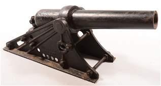 Large muzzle loading Coston signal cannon having a