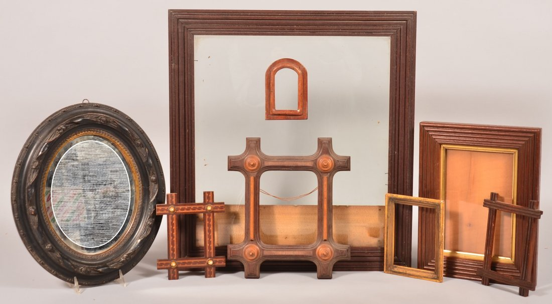 Lot of Eight various 19th Century Picture Frames.