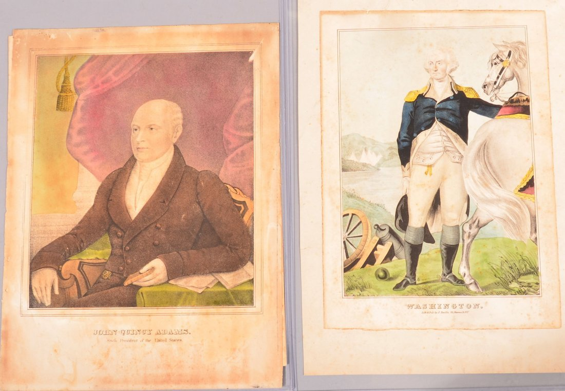 Four various Unframed Currier & Ives Style Colored