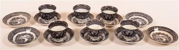 Sixteen Pieces of Mulberry Transfer Ironstone China