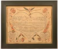 Berks County, PA Birth and Baptismal Certificate.