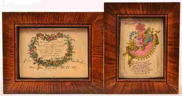 Pair of Printed and Hand Colored Proverbs.