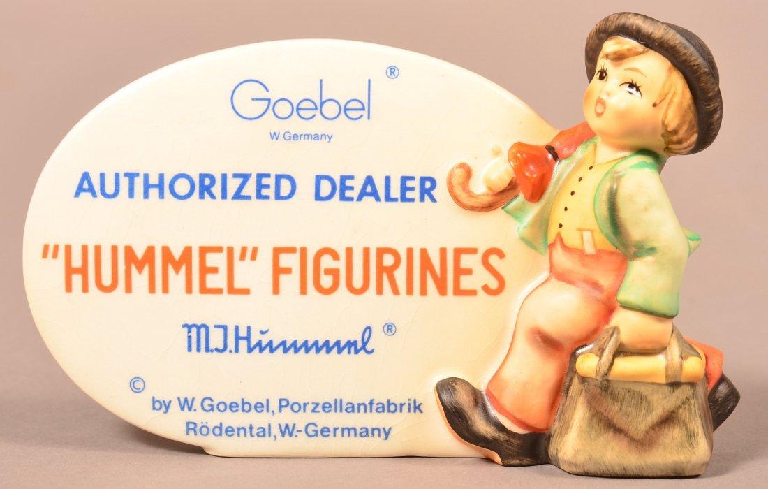 Authorized Dealer Hummel Figurines Plaque.