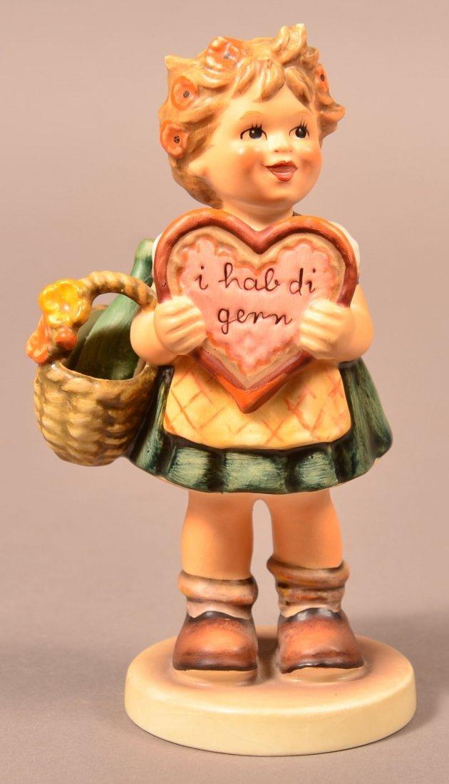 """Hummel Figurine """"Valentine Gift""""."""