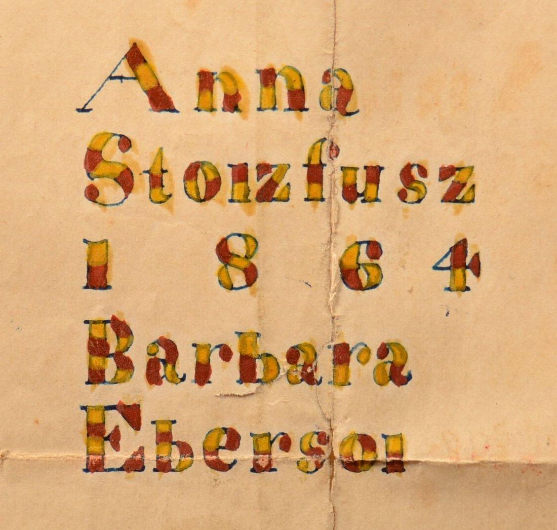Fraktur Sampler Signed Barbara Ebersol, 1864. - 2