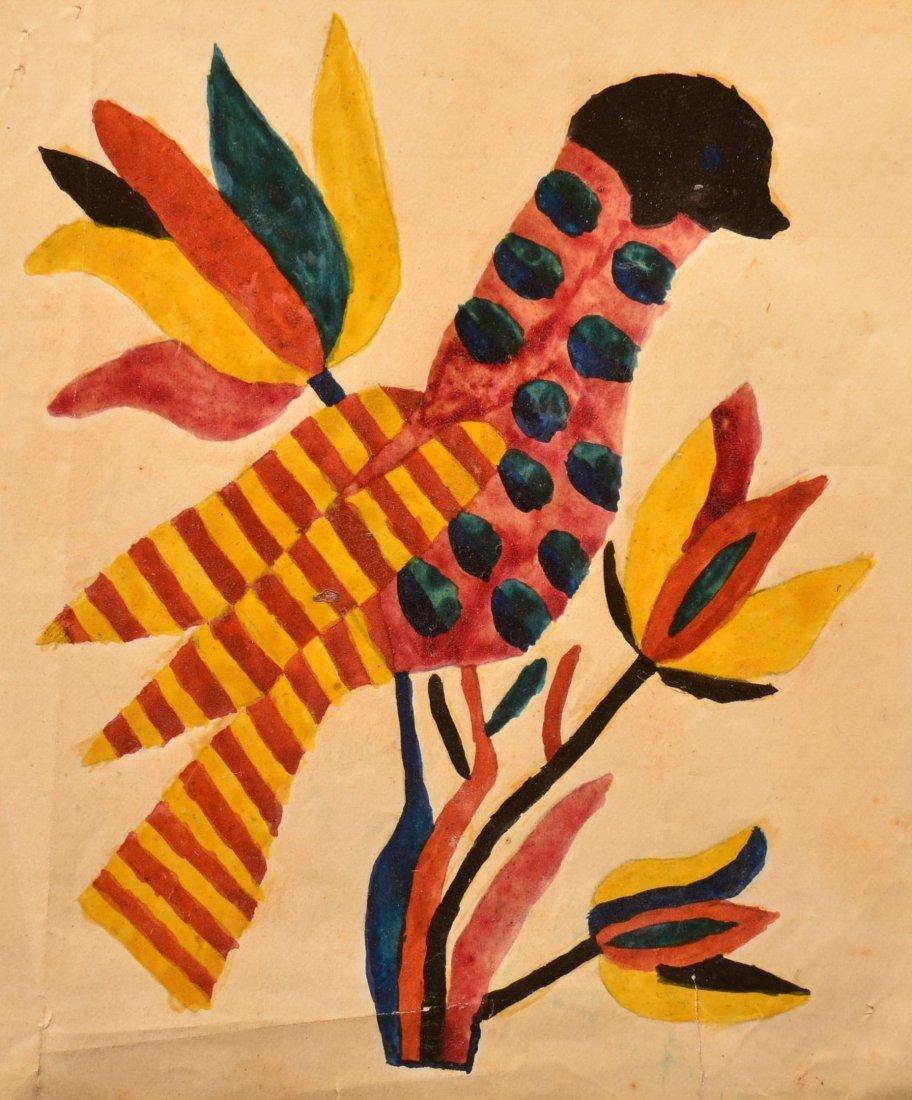 Fraktur Sampler Signed Barbara Ebersol, 1864. - 4