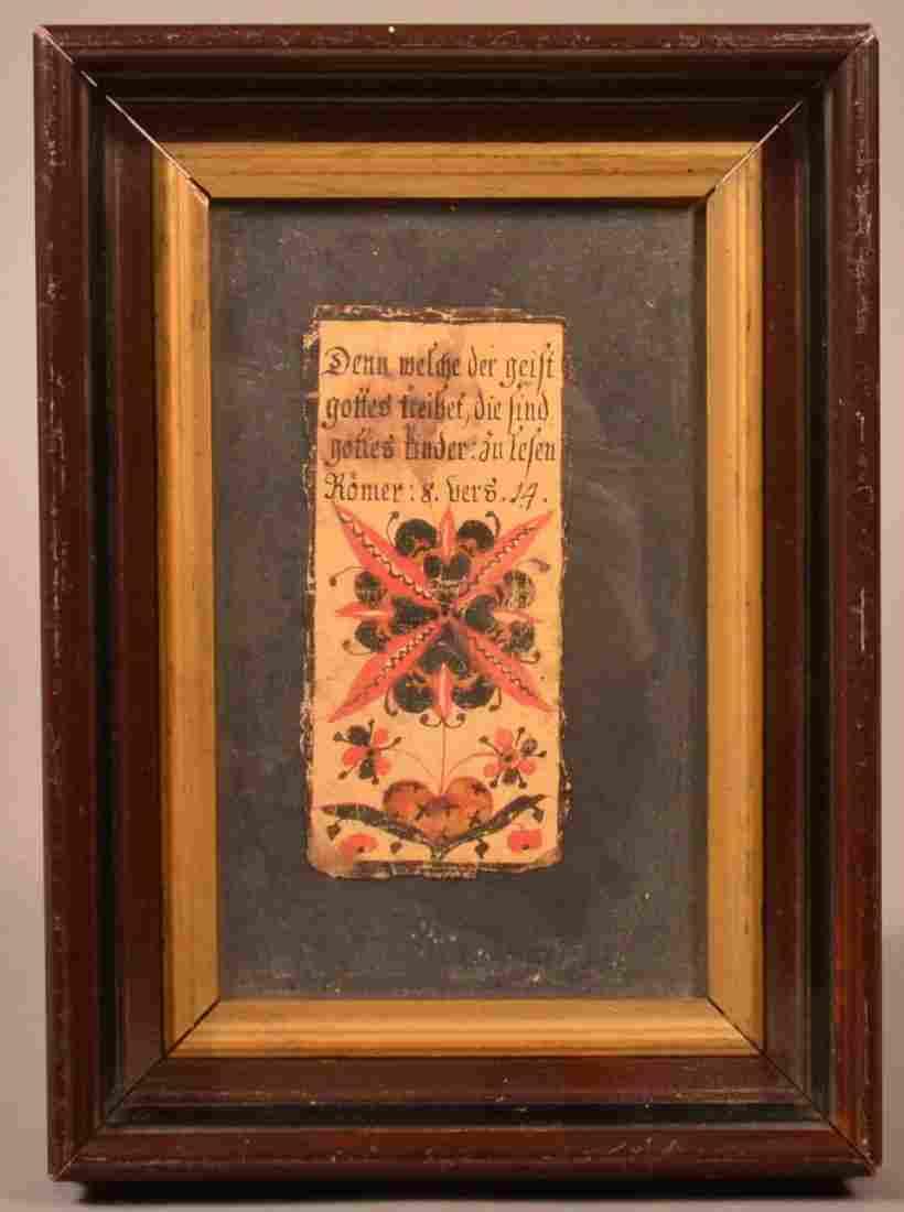 PA Late 18th Century Fraktur Bookplate.