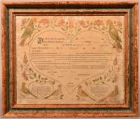 J. Bauman Birth and Baptismal Certificate.