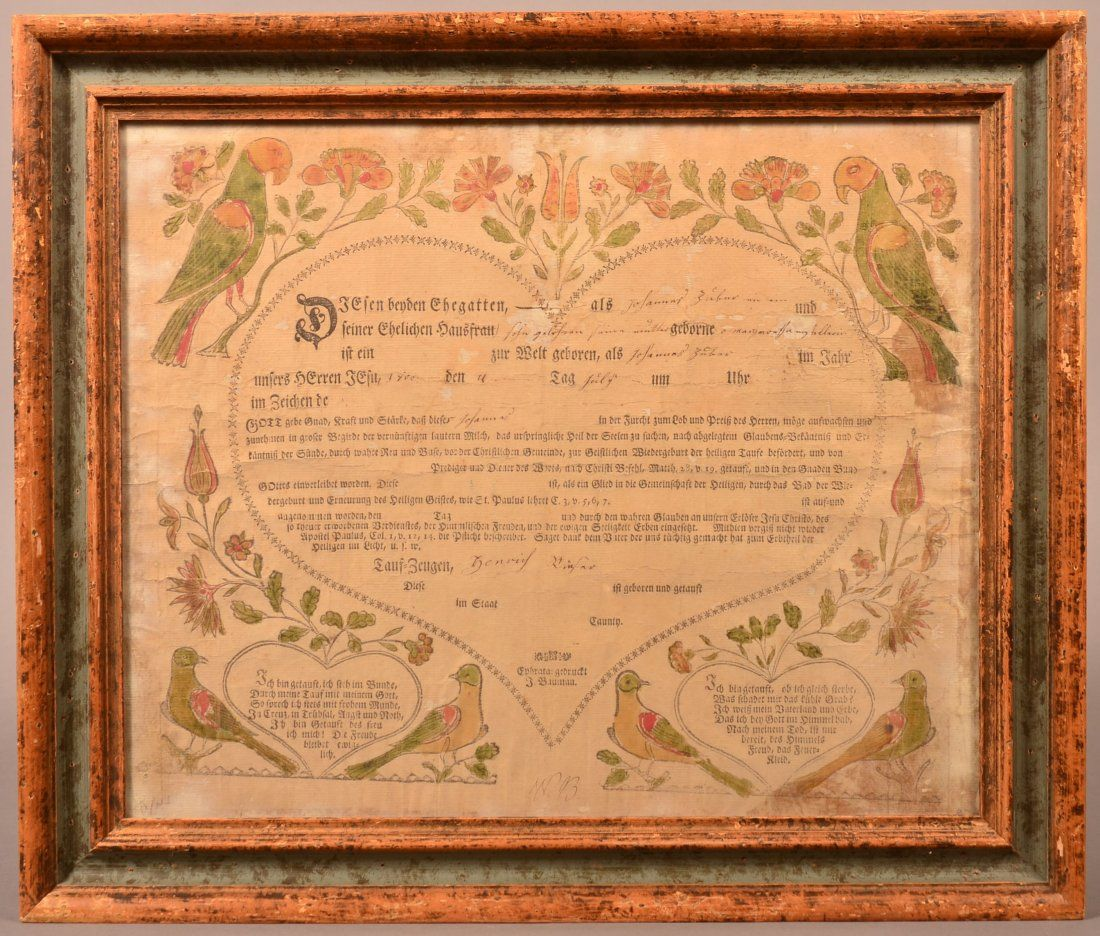 J. Bauman Birth and Baptismal Certificate.