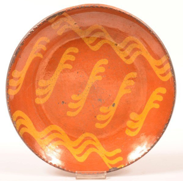 Shooner Redware Pottery Large Plate.