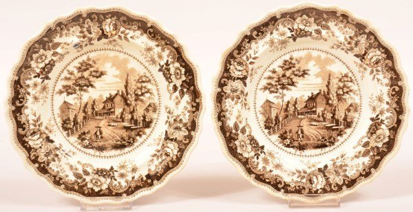 Two Historical Staffordshire Transfer Plates.