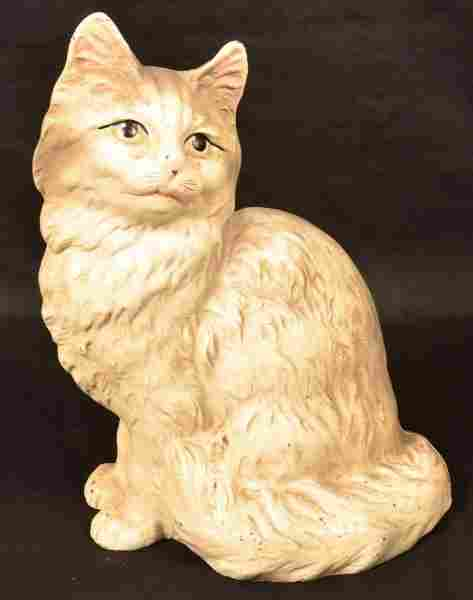 Hubley Cast Iron Seated Cat Doorstop.
