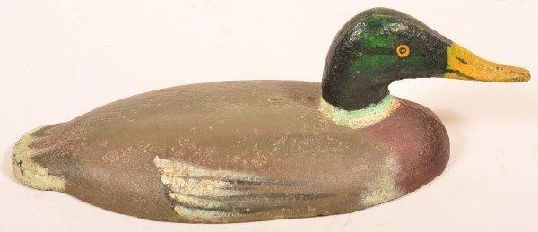 Cast Iron Mallard Drake Duck Decoy Rig Anchor.