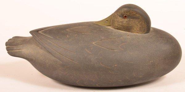Sleeper Duck Decoy Signed W. Quinn, Yardley PA - 2
