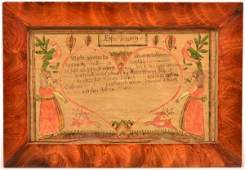 Berks County Hand Drawn and Colored Fraktur