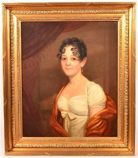 Oil Portrait of a Woman by John Wesley Jarvis.