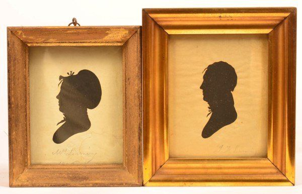 """Hollow Cut Silhouttes Impressed """"MUSEUM""""."""