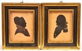 Pair Silhouttes - George and Martha Washington