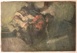 F. E. Schoonover Illustrator Art Trench Scene.