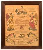 Johann Ritter Birth and Baptismal Certificate