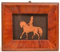 Cut Out Silhoutte of a Gentleman on Horse.