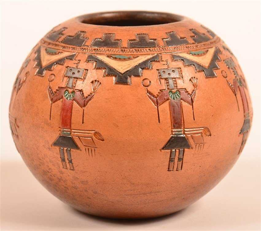 527b91fbac Navajo Pottery Yei Pot by Irene White.