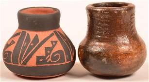2 Navajo Pottery Jars