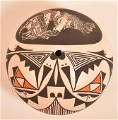 Acoma Pottery Seed Jar signed and dated