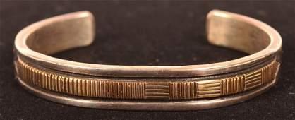 Sterling Silver 14K Gold Bracelet
