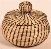 Horsehair Basket w/ Lid