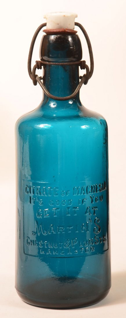 Citrate Of Magnesia Bottle, Martin's, Lanc., PA.