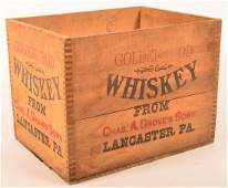 Chas. A. Grove's Sons Whiskey Crate, Lanc., PA.