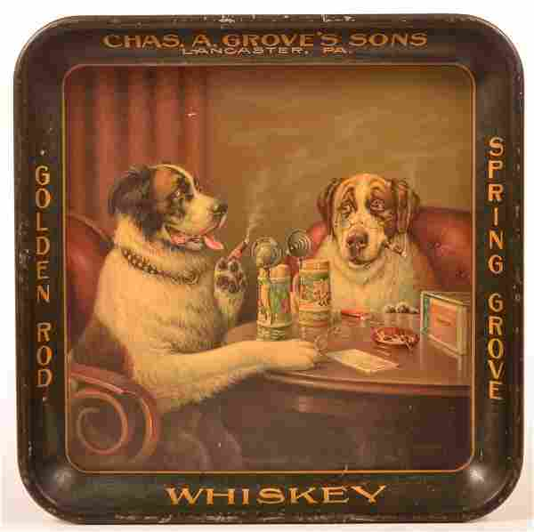 Chas. A. Grove's Advertising Tray, Lanc., PA.