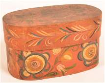 Polychrome Decorated Bentwood Brides Box