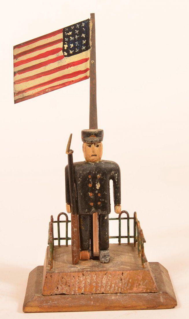 Folk Art Carving of a Civil War Soldier.