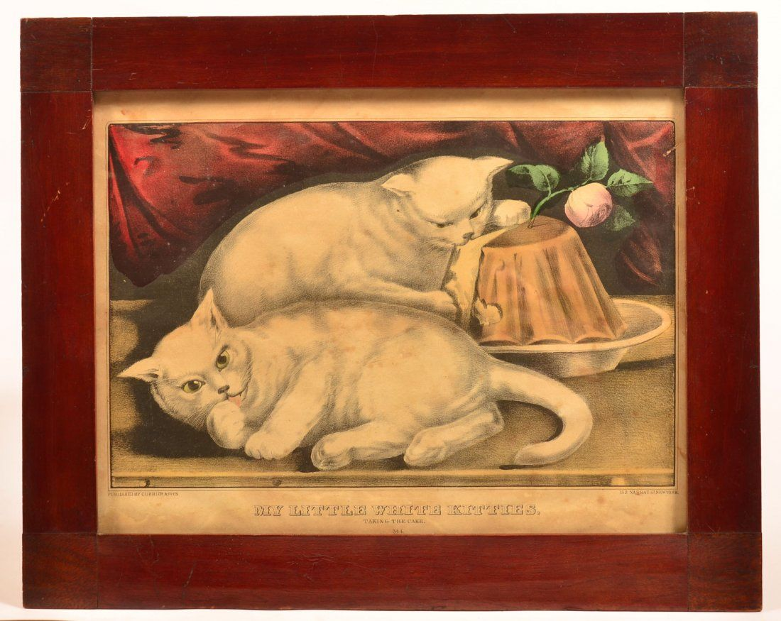Currier & Ives Color Lithograph.