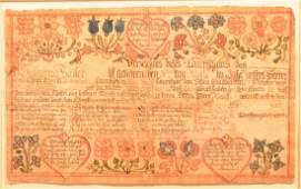 Johannes Ernst Spangenberg Birth Certificate.
