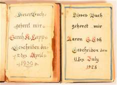 Two Amish Fraktur Bookplates.