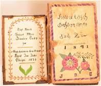 Two 19th Century Amish Fraktur Bookplates.